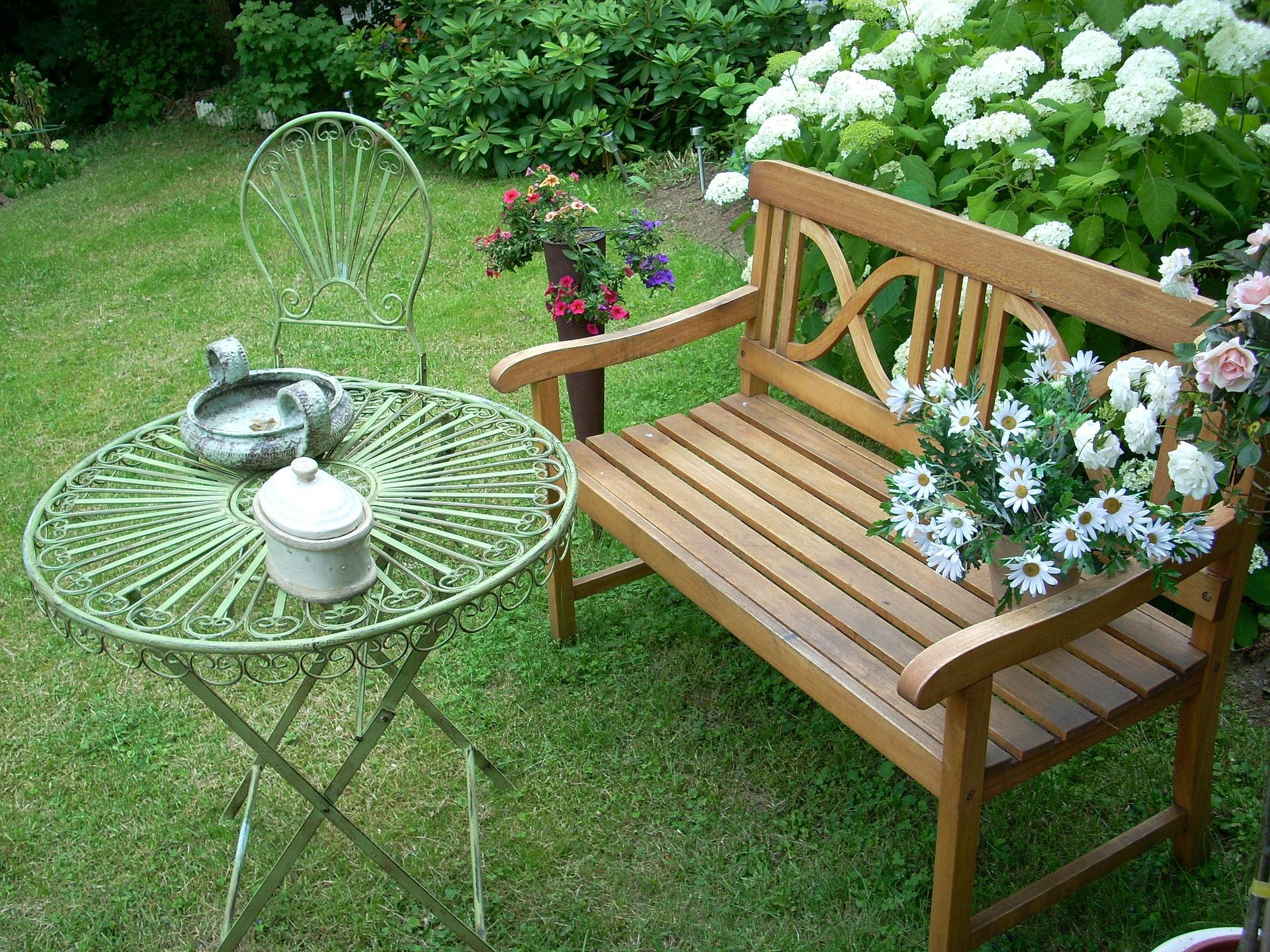 Holzbank Mit Tisch In Der Mitte Kinder Picknick Garten Tisch Mit