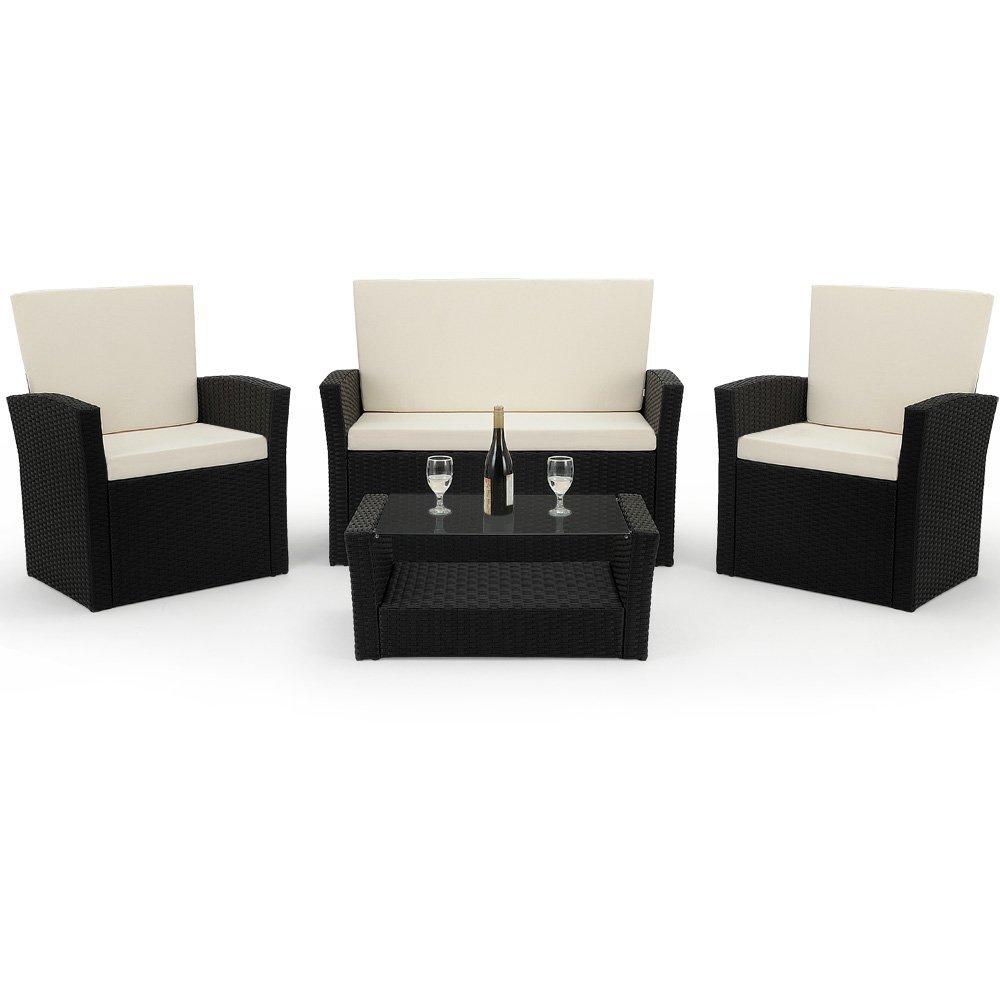gartenbank rattan 1 meine. Black Bedroom Furniture Sets. Home Design Ideas