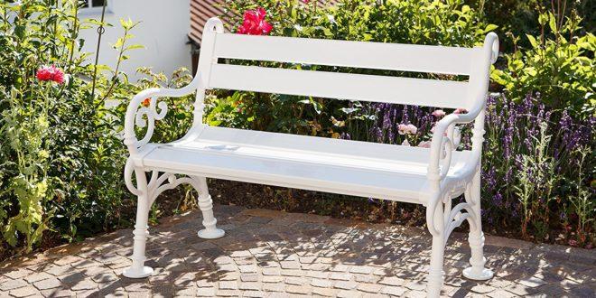 Gartenbank weiß ++ Das Highlight ++ NEU - meine-gartenbank.com